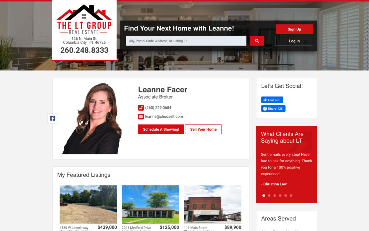 LT Real Estate - Agent Page
