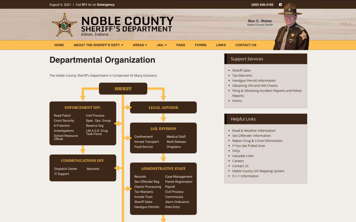 Noble County Sheriff - About Page