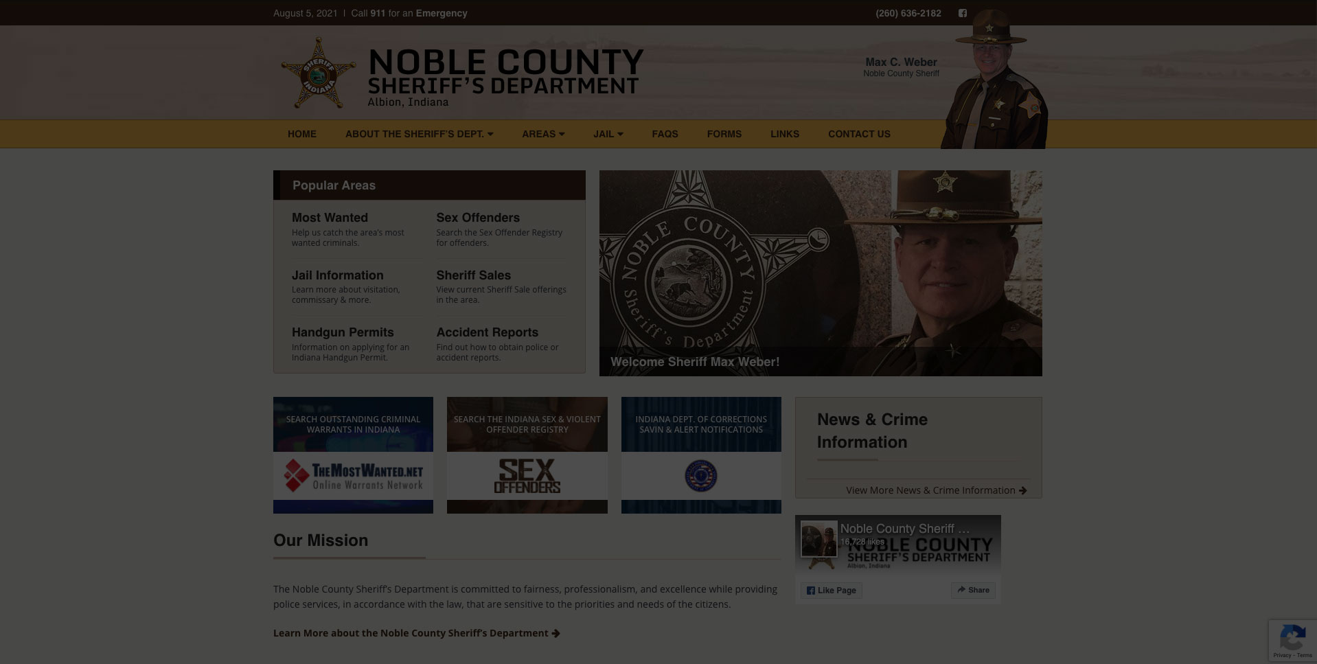 Noble County Sheriff