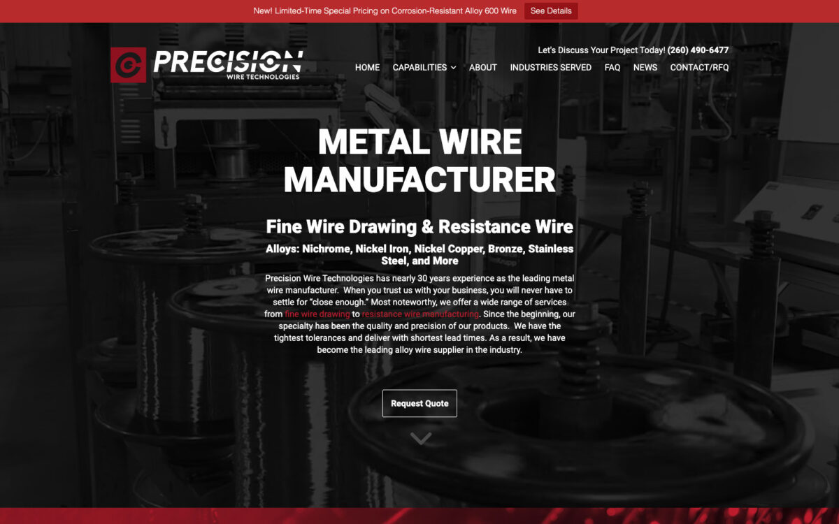 Precision Wire Technologies - Home Page