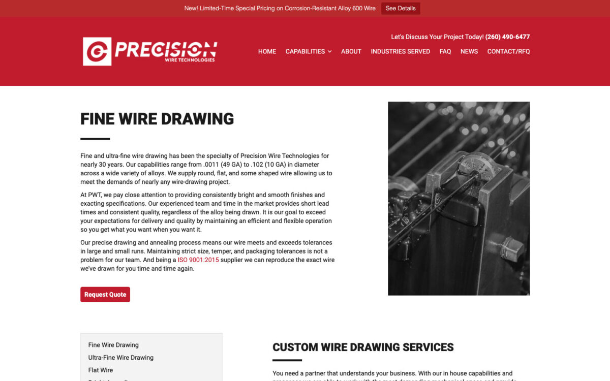 Precision Wire Technologies - Detail Page