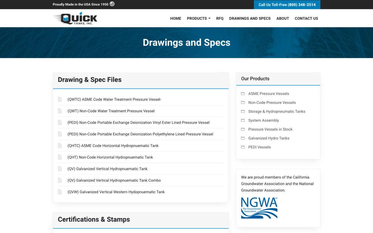 Quick Tanks Inc - Downloads