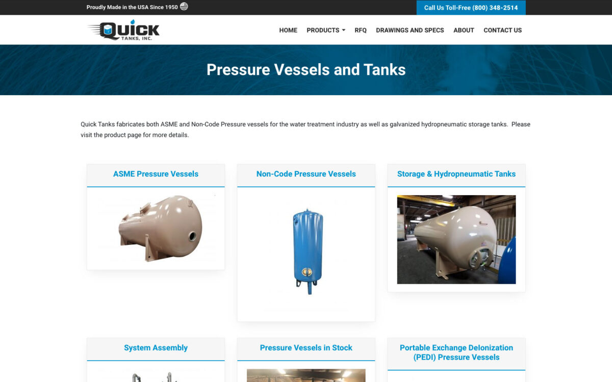 Quick Tanks Inc - Products